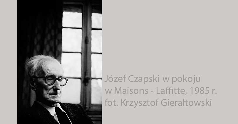 Portret Józefa Czapskiego, 1985 r., fot. Krzysztof Gierłatowski