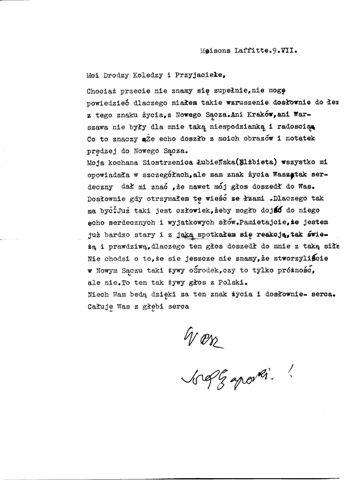 List Józef Czapski