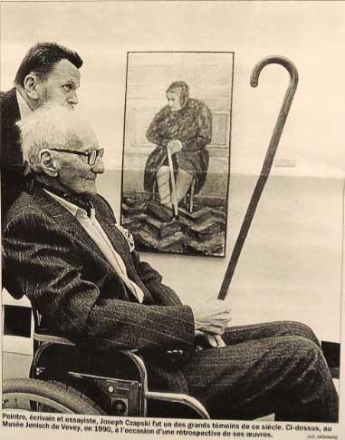 Józef Czapski i Stanisław Rodziński w 1990 r.