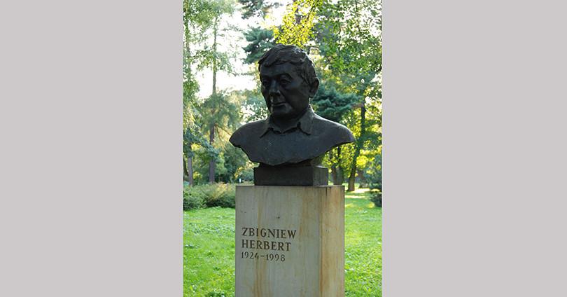 Pomnik Zbigniewa Herberta w Krakowie, Park Jordana