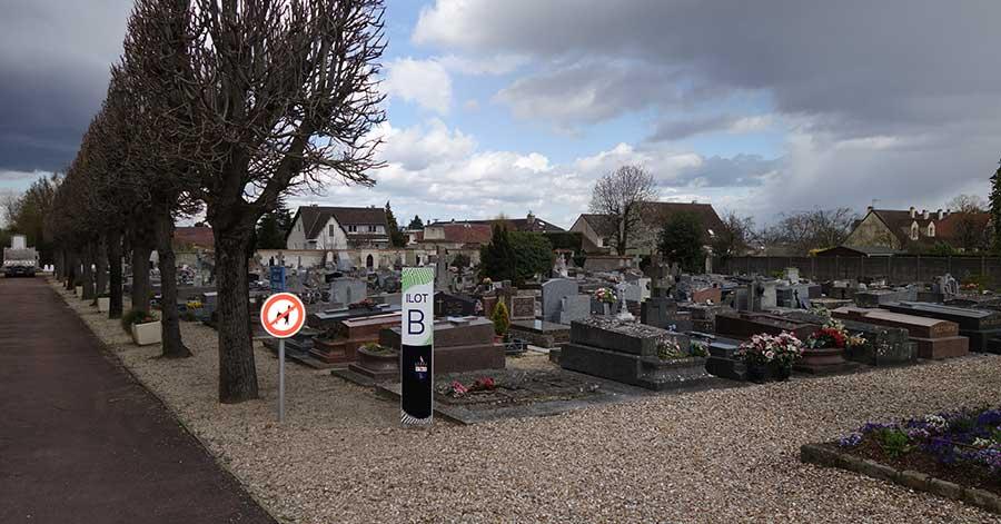 Cmentarz w Le Mesnil-le-Roi.