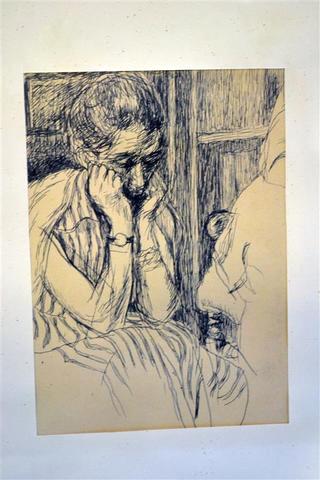 La confidence z 1954 roku (17.5 x 12.5 cm), Józef Czapski