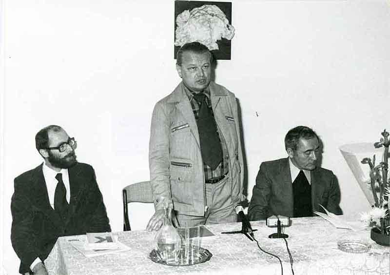 Ryszard Krynicki, Jerzy Krzysztoń i ks.Józef Sadzik w Centrum Dialogu, Paryż ©ks.Witold Urbanowicz