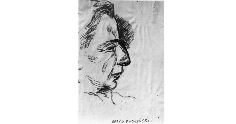 Adolf Bocheński, 1944 rys. Józef Czapski