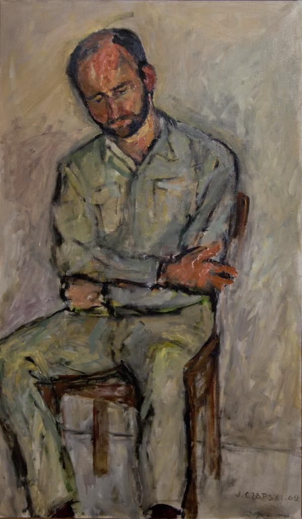 Portret Sławomira Mrożka, Józef Czapski. (fot. Adam Golec)