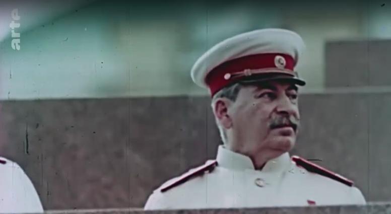 Kolorowe zdjęcie na nim jest Józef Stalin
