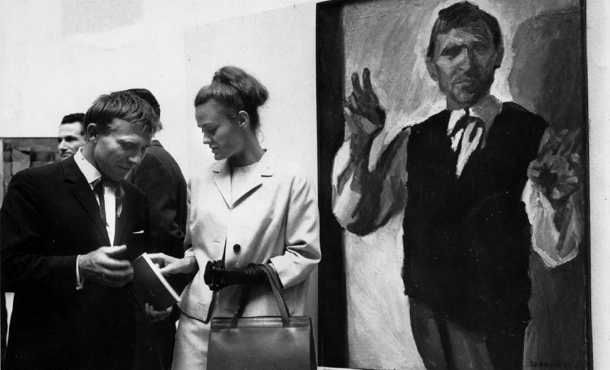 Zdjęcie czarnobiałe a na nim: Ludmiła Murawska i Wojciech Siemion