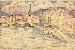Kolorowy rysunek Józefa Czapskiego dla Vinzenzów