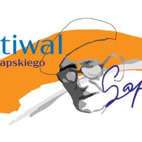 logo festiwalu z pomarańczowym elementem