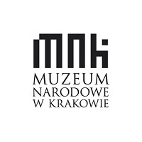 czarno białe logo MNK