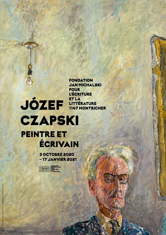 kolorowy plakat wystawy Józefa Czapskiego w Szwajcarii