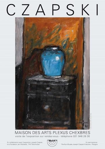 kolorowy plakat wystawa Czapskiego w Chexbres